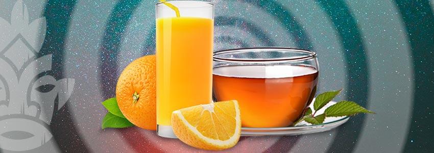 Sorseggiare Spremute Fresche E Tè