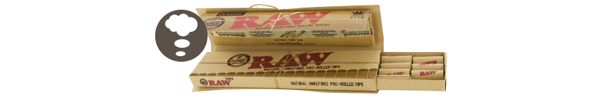 Cartine Raw King Size Connoisseur + Filtri Pre-rollati